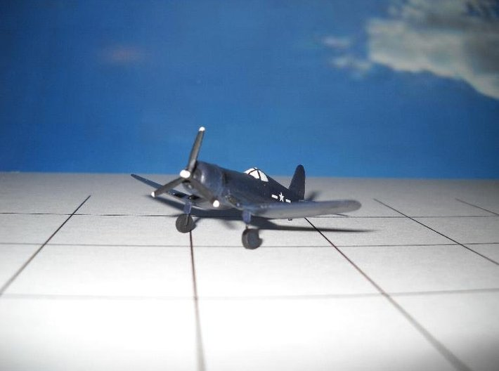 Vought F4U-1D Corsair - Zscale 3d printed Painting and Photo by Thom Welch