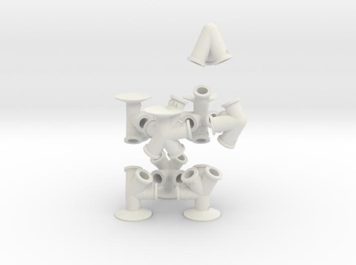 TrussFab Bottle Chair 3d printed