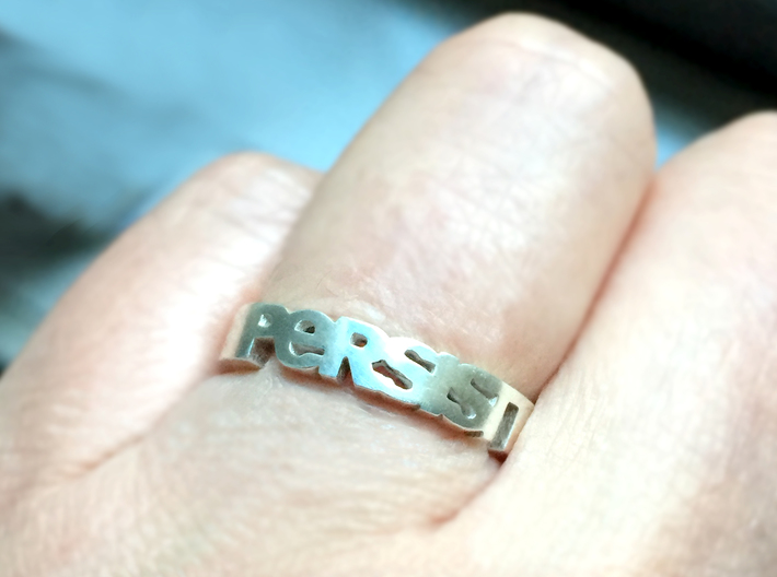 Persist Ring in 14k Gold Plated  3d printed