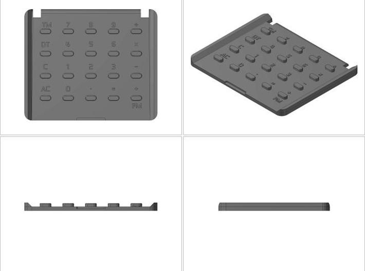 Custom Casio MQ-1 Calculator Key Pad 3d printed