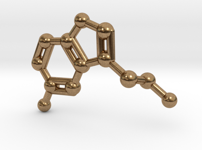 Serotonin Molecule Keychain 3d printed