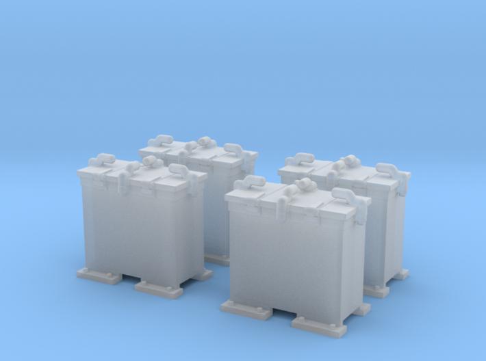 1/144 Scale 20mm Oerlikon Ready Use Lockers x4 3d printed 1/144 Scale 20mm Oerlikon Ready Use Lockers x4