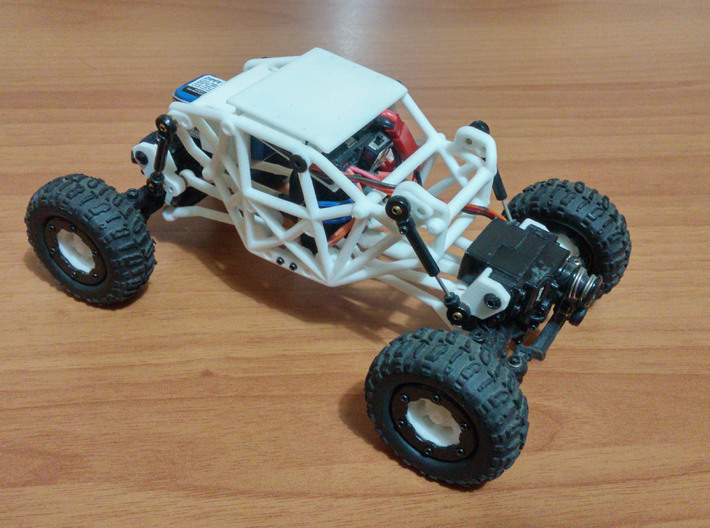 R1 Rock Buggy Chassis for Losi Micro Rock Crawler 3d printed Example of assembly