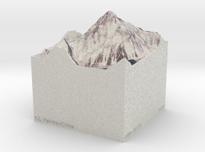 K2, Pakistan/China, 1:100000 Explorer 3d printed