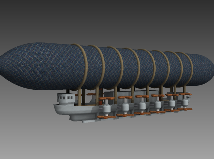 1/700 Heavy Caravel Airship 3d printed