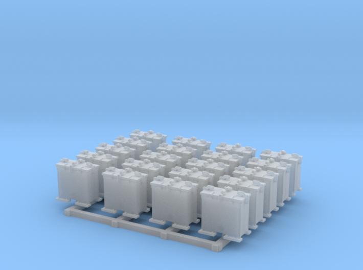 1/144 Scale 20mm Oerlikon Ready Use Lockers x20 3d printed 1/144 Scale 20mm Oerlikon Ready Use Lockers x20