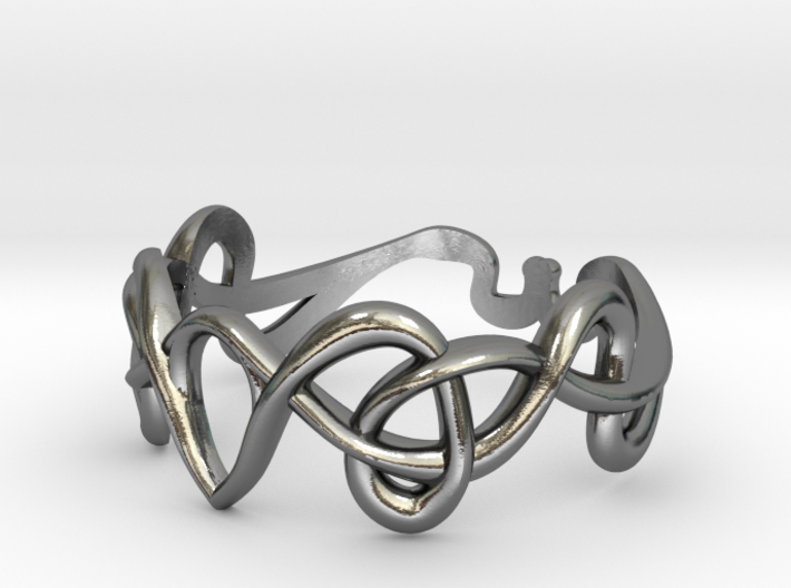 Art nouveau ring  3d printed