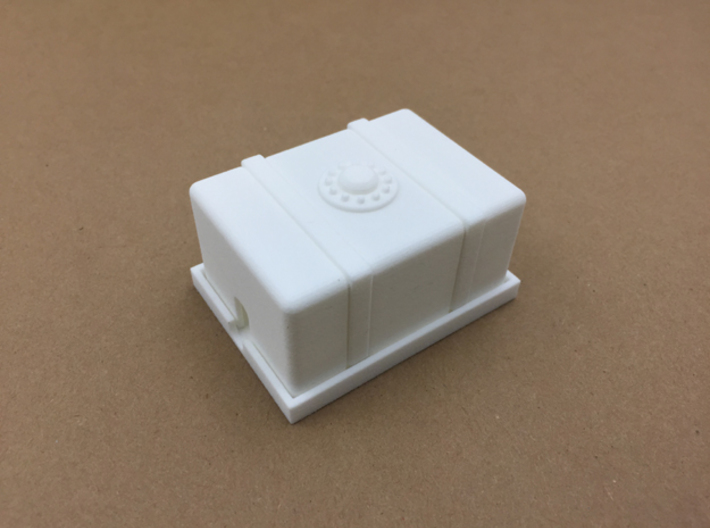 Magnetic Monster Truck Fuel Cell Receiver Box Top 3d printed Here is the top with the base.