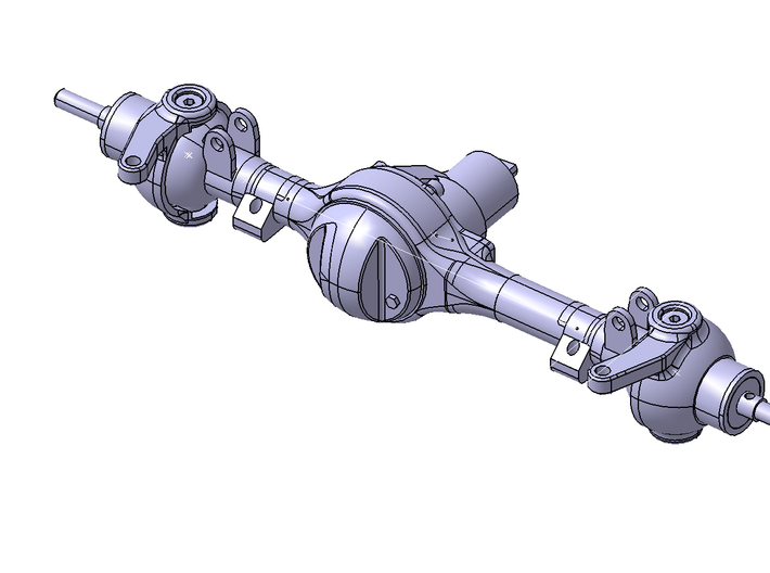 Hilux Front Axle Bottom Leaf Attacment 3d printed