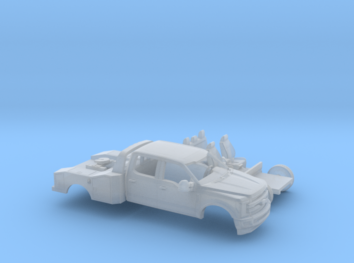 1/87 2017 Ford F-Series Crew Toy Hauler Bed Dually 3d printed