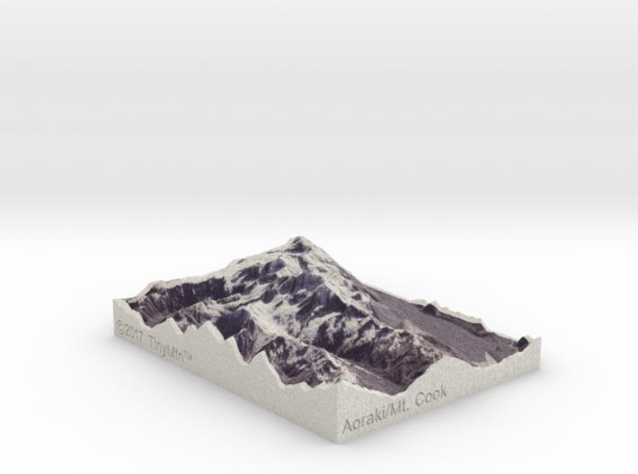 Aoraki/Mt. Cook, New Zealand, 1:250000 Explorer 3d printed