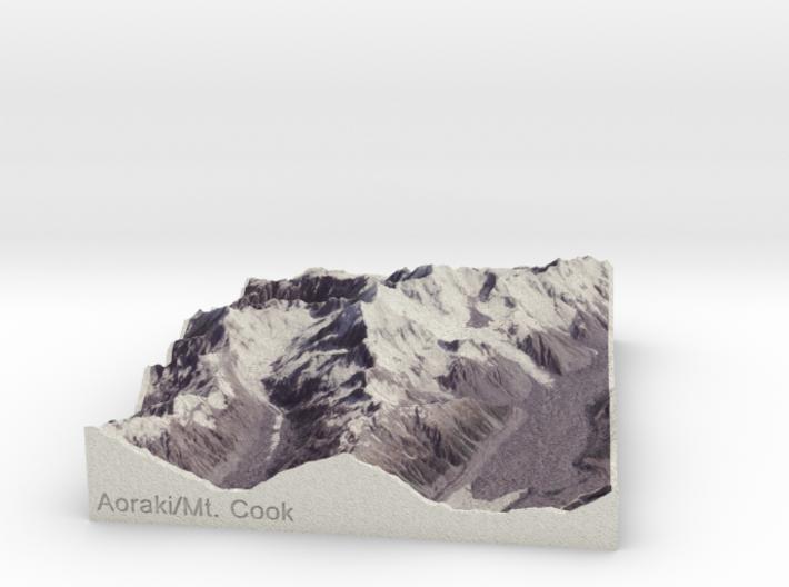 Aoraki/Mt. Cook, New Zealand, 1:150000 Explorer 3d printed