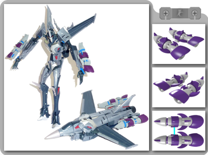TFP Starscream Fusion Boosters 3d printed