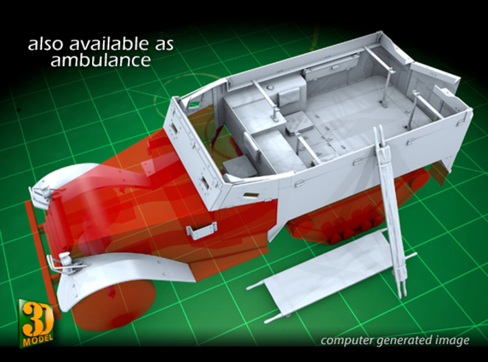 British WW2 Stretcher - rolled up (1/35) 3d printed Also available: M14 commonwealth hafltrack conversion