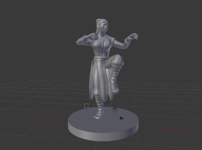 Human Female Monk - Zi Liang 3d printed