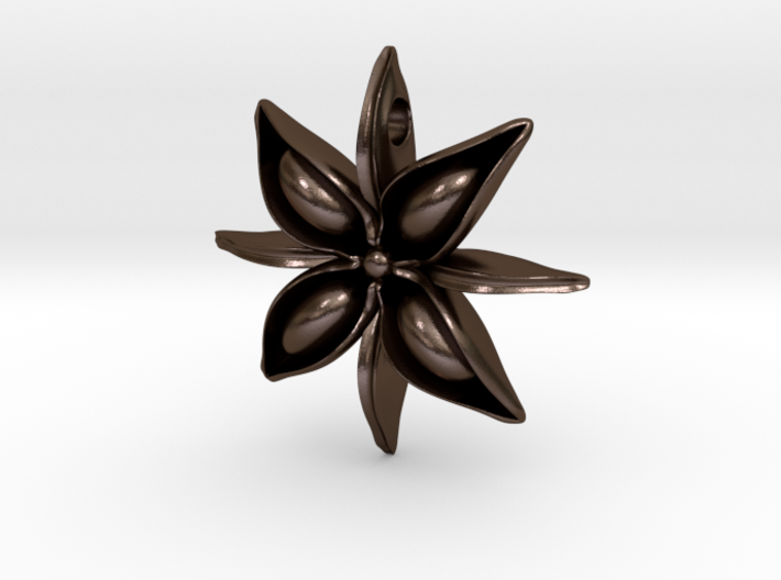 Anise Pendant 3d printed