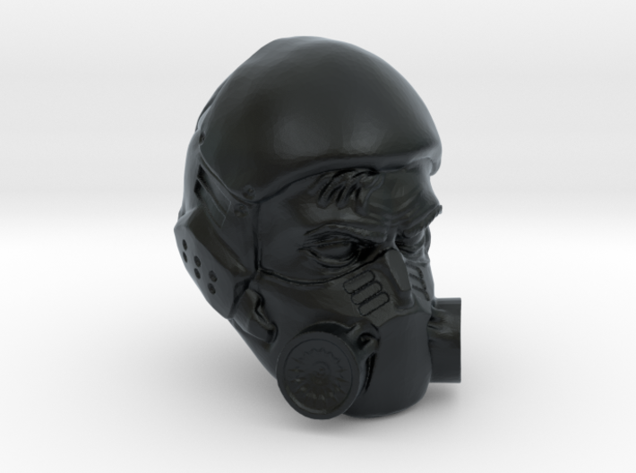 1/18 Scale Masked Head 02 3d printed
