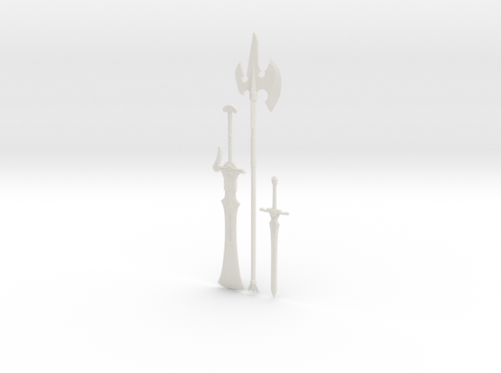 """""""BotW"""" Knight's Weapons Set 3d printed"""