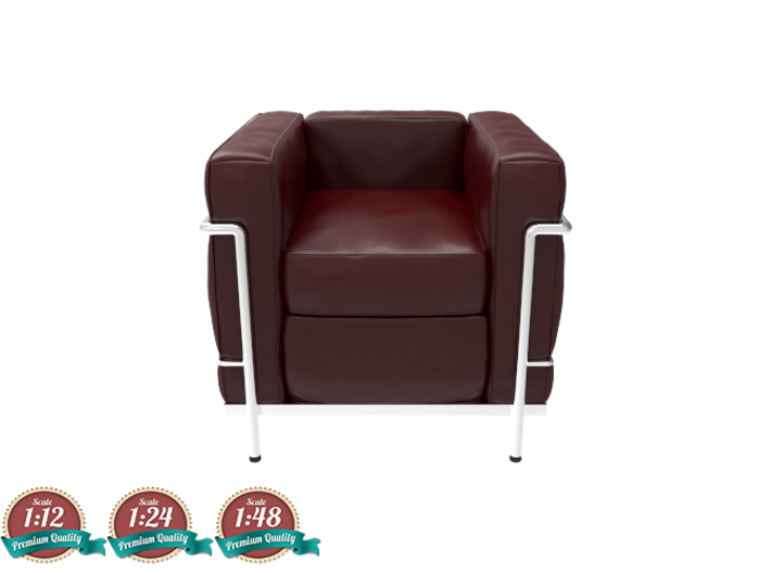 Miniature lc2 poltrona chair le corbusier grz529x8w by for Poltrona lc2