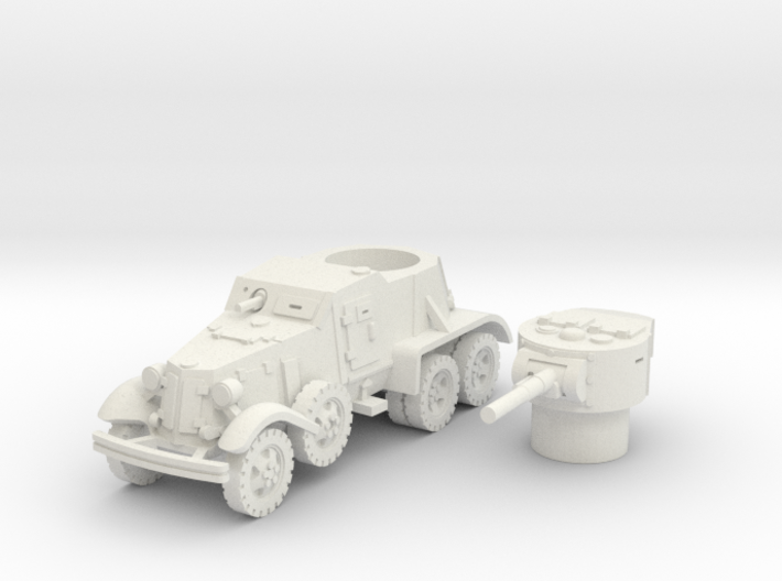 BA 36 with wheels (Soviet) 1/100 3d printed