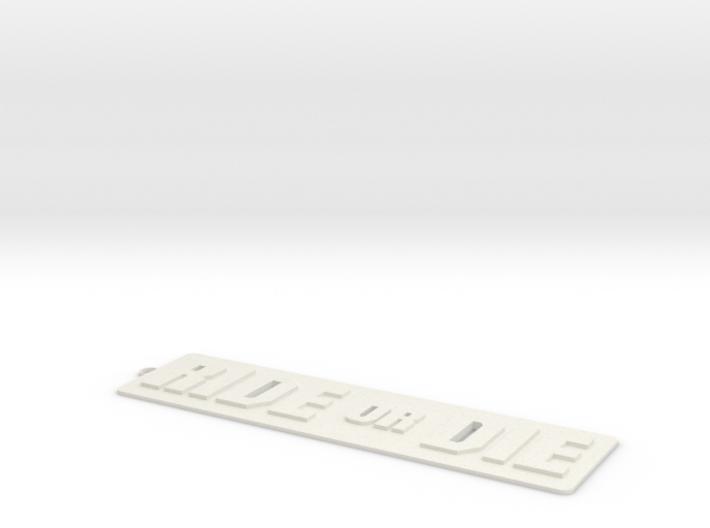 RIDE OR DIE keychain 3d printed