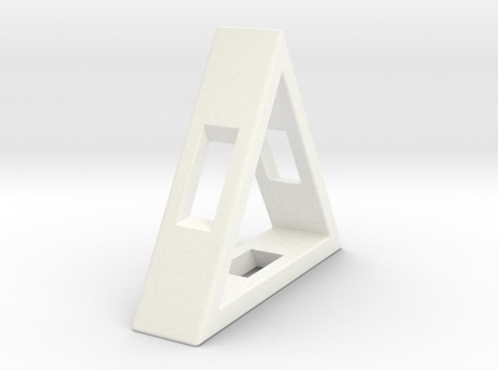 Loop ::: Triangle Pendant ::: v.01 3d printed