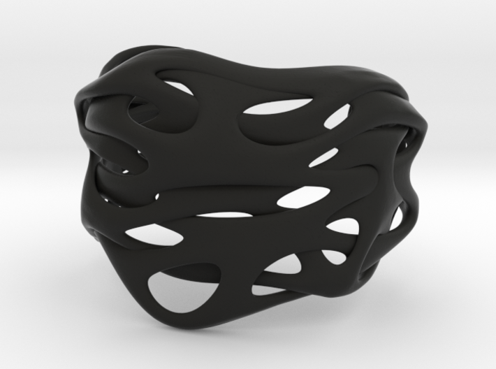 Audio |  Cuff Bracelet for Her&Him 3d printed