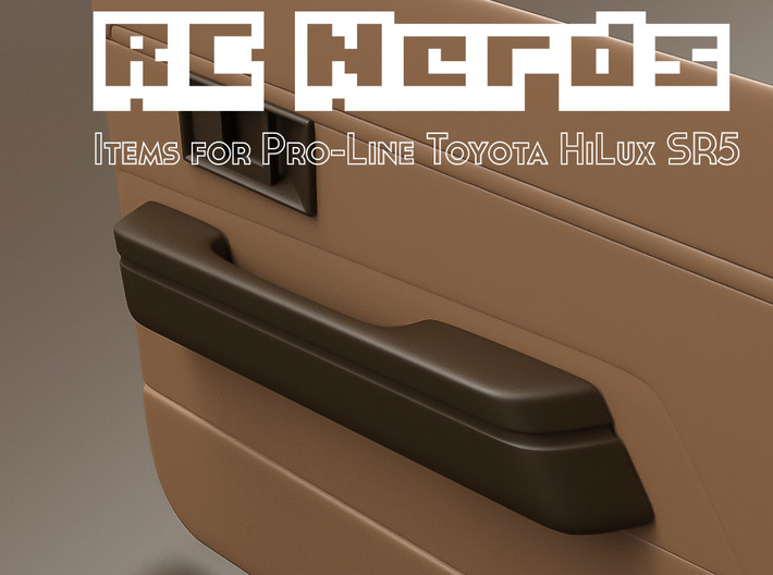 RCN019 Interior door panel handle for Toyota HiLux 3d printed