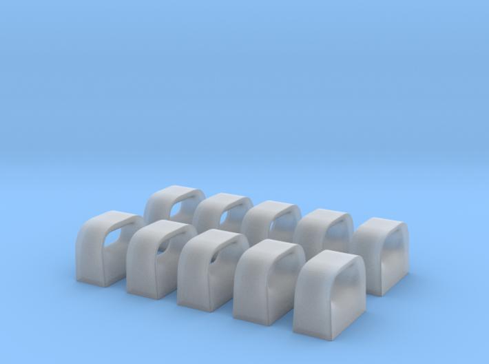 1/72 USN Chock Set x10 3d printed