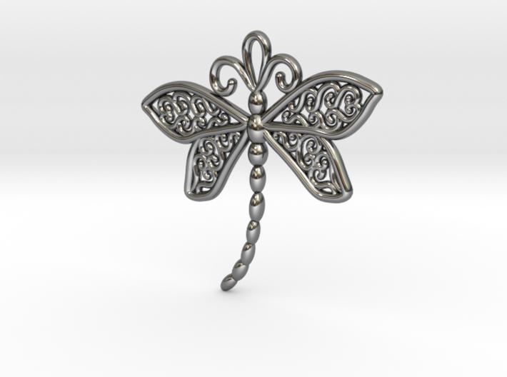 Dragonfly Earrings or pendant 3d printed