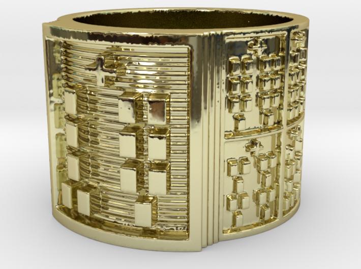 OKANAOGUNDA Ring Size 14 3d printed