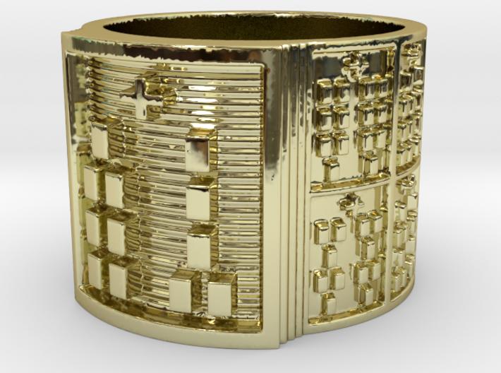 OGUNDABARA Ring Size 13.5 3d printed