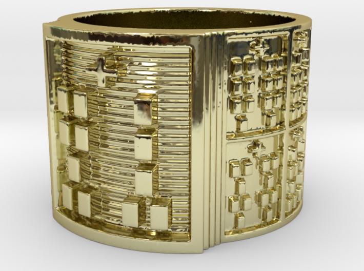 OGUNDATRUPON Ring Size 14 3d printed