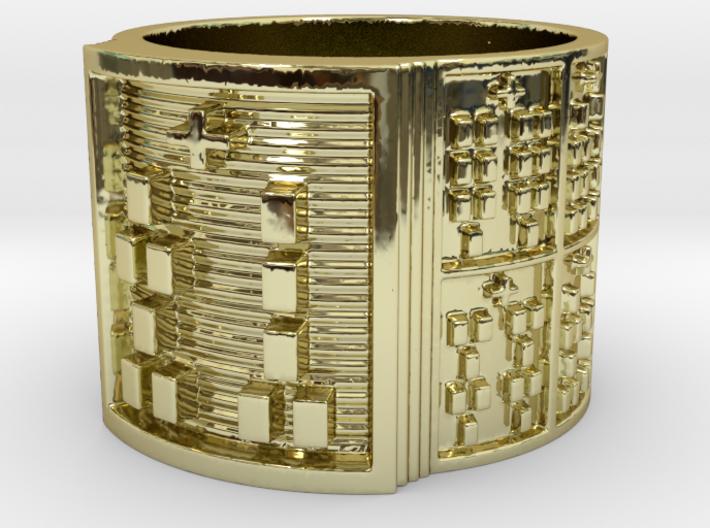 OGUNDASHE Ring Size 14 3d printed