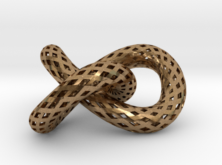 Trefoil knot, strips 3d printed