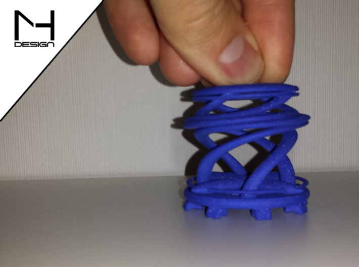 Twister / Spiral 3d printed WS&F in Blue (pressed)