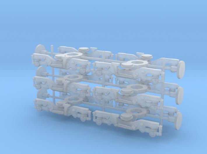 C3000/40000 bogies 1/148 3d printed
