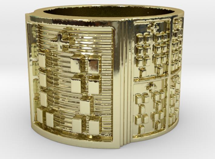 OTRUPONOGUNDA Ring Size 14 3d printed