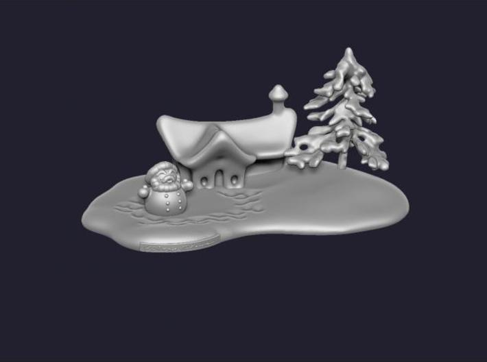Snow hut 3d printed Description