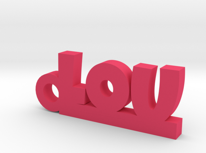 LOU Keychain Lucky 3d printed