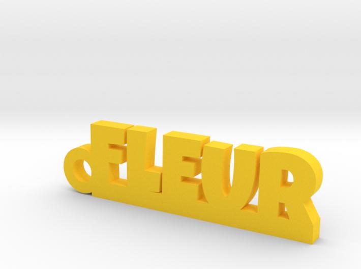 FLEUR Keychain Lucky 3d printed