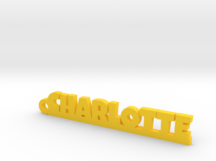 CHARLOTTE Keychain Lucky 3d printed