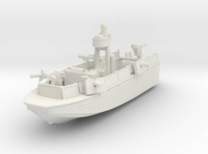 1/144 USN Riverine Assault Boat (With guns) - Coa 3d printed
