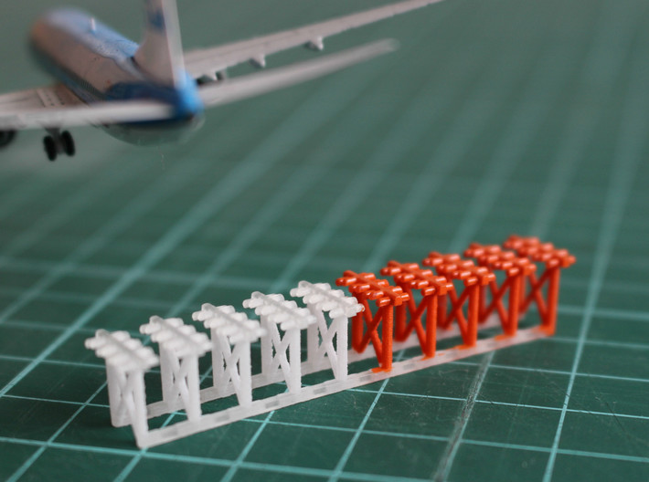 1400 Airport ILS Array 3d Printed Half Painted