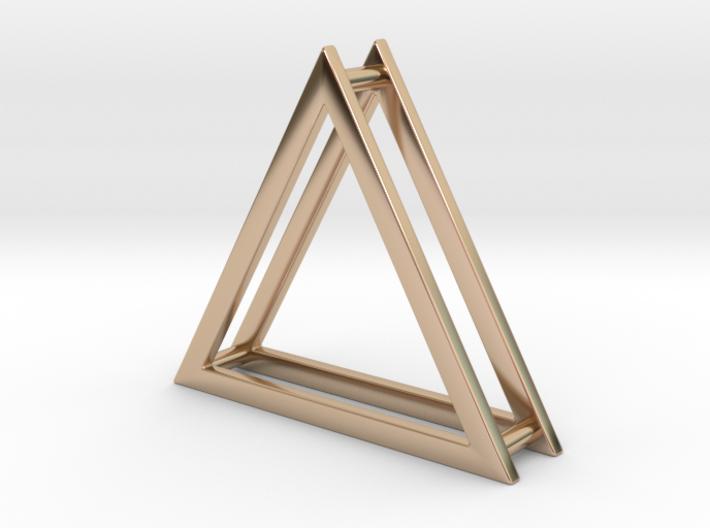 Wire ::: Triangle Pendant ::: v.01 3d printed