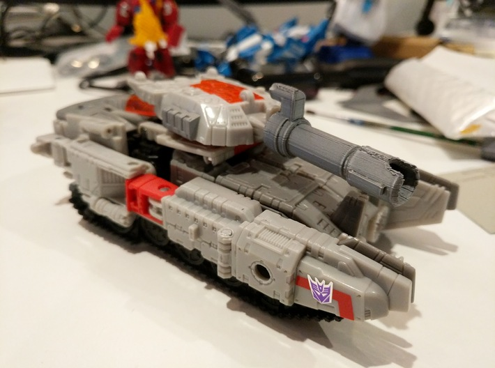 MTMTE Megatron Cannon Barrel 3d printed Shoulder mounted cannon can become the tank