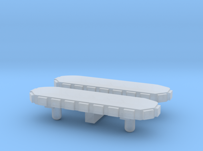 Light Bar - Round Back 1-87 HO Scale (2 Pack) 3d printed