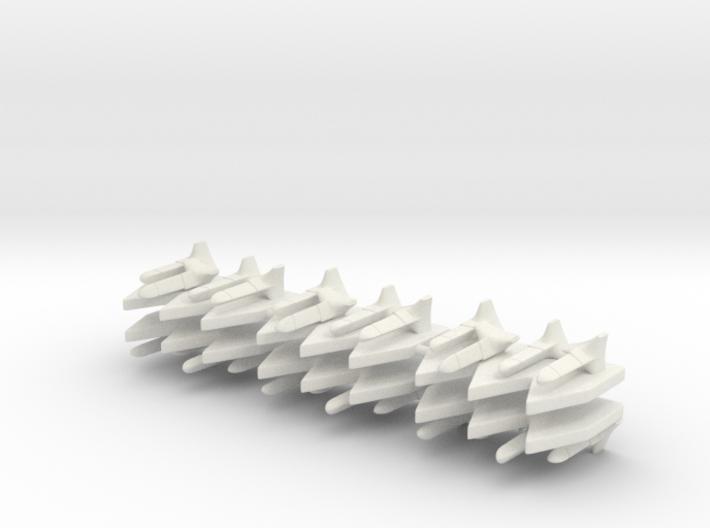 6 Futuristic Torpedo Markers 3d printed