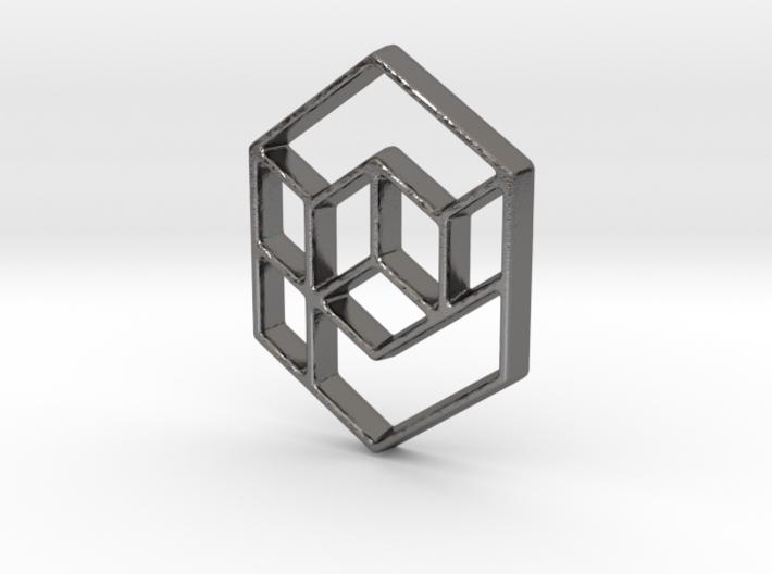 Geometrical cube 3d printed