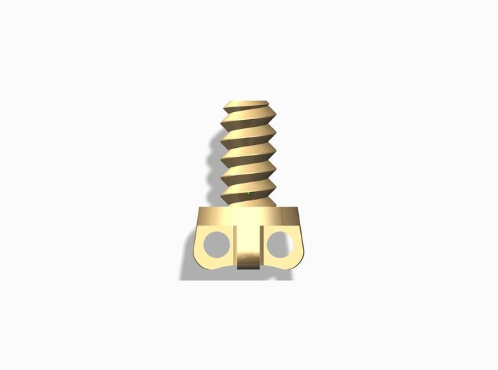 """""""Bolt and Nut"""" pendant for men 3d printed"""